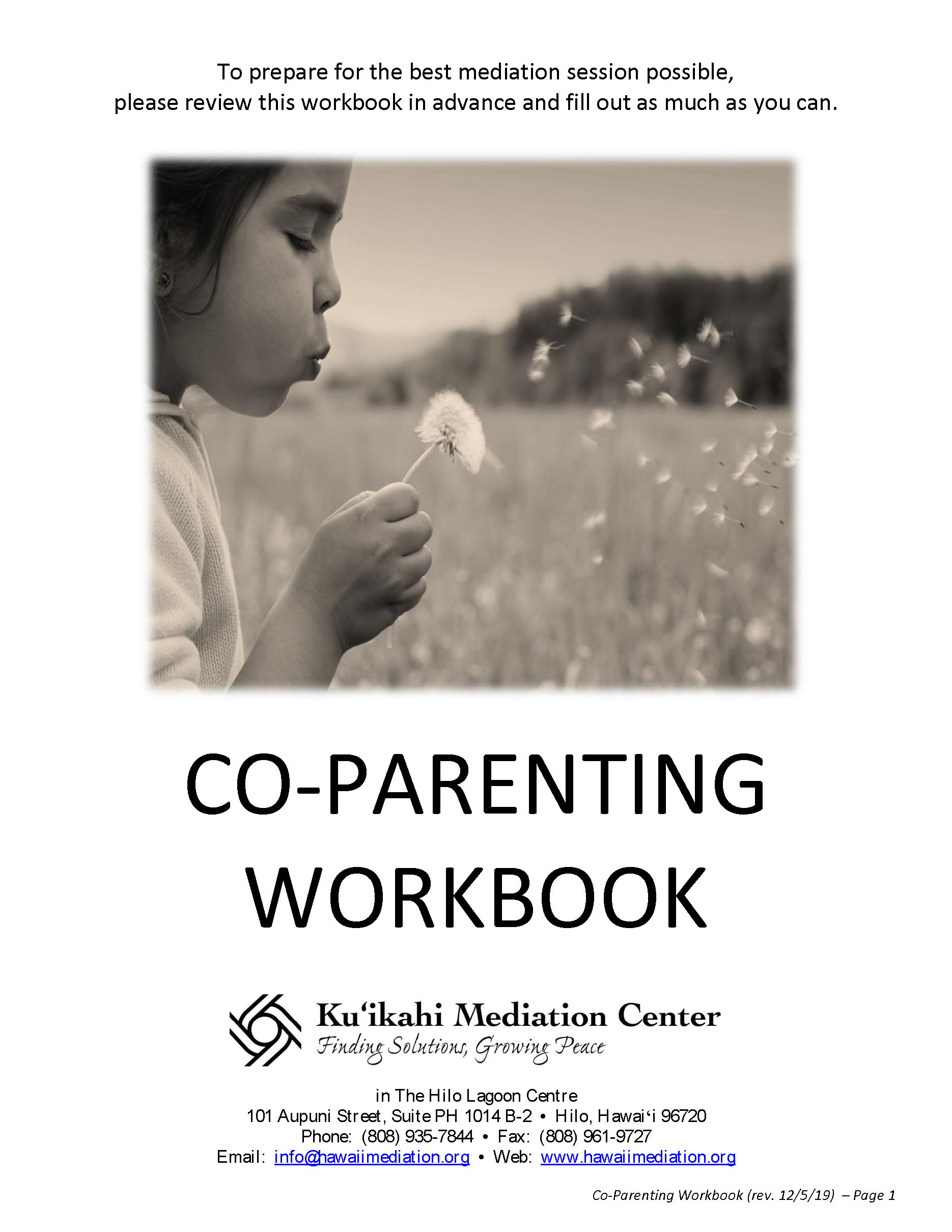 Co-Parenting Workbook