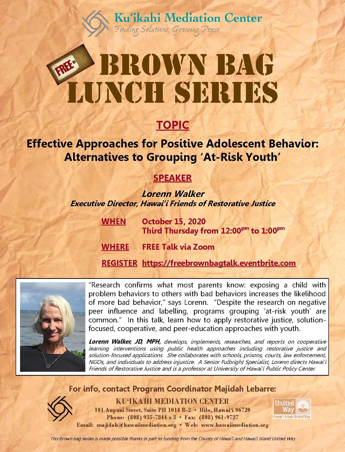 Flyer - Brown Bag 10-15-20