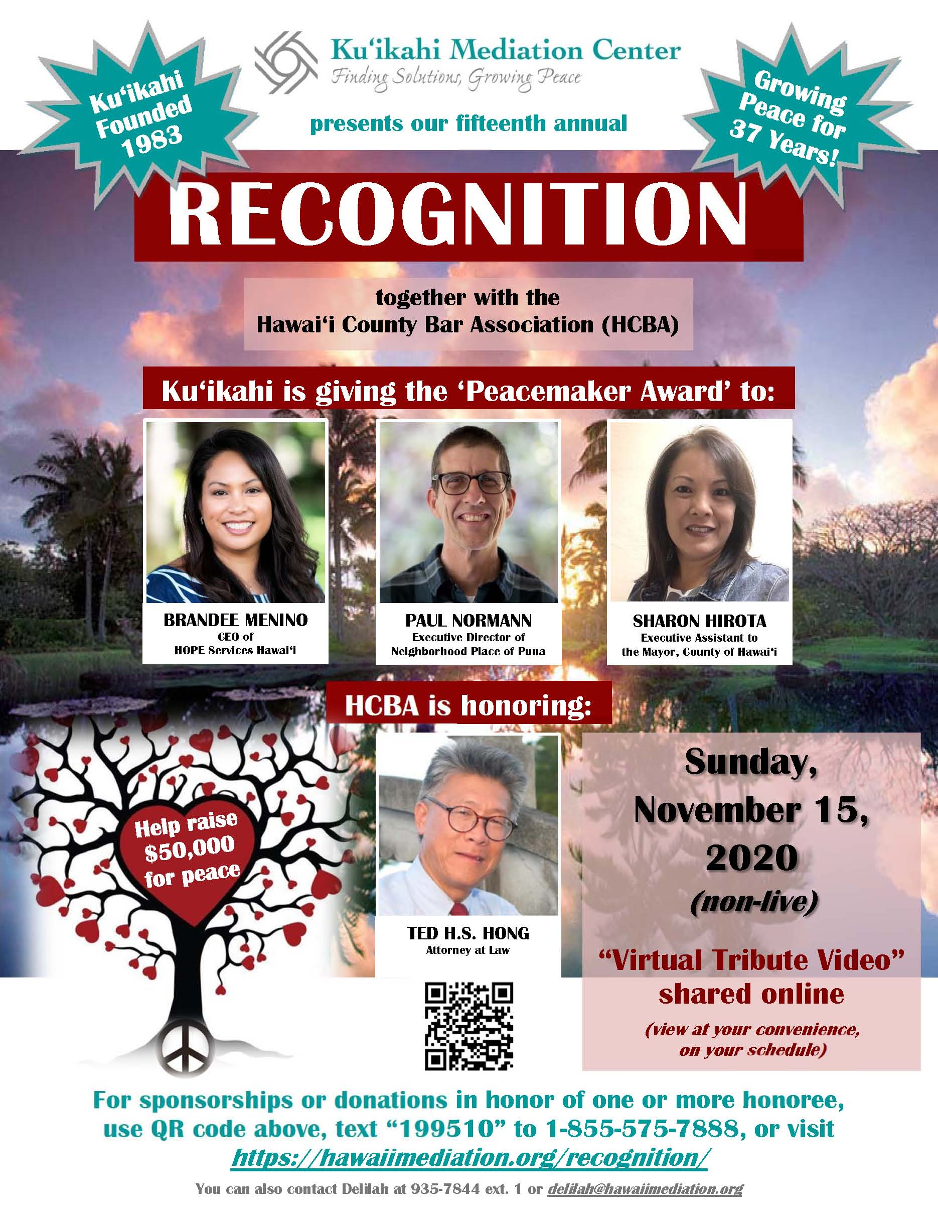 Flyer - Ku'ikahi Annual Recognition 2020