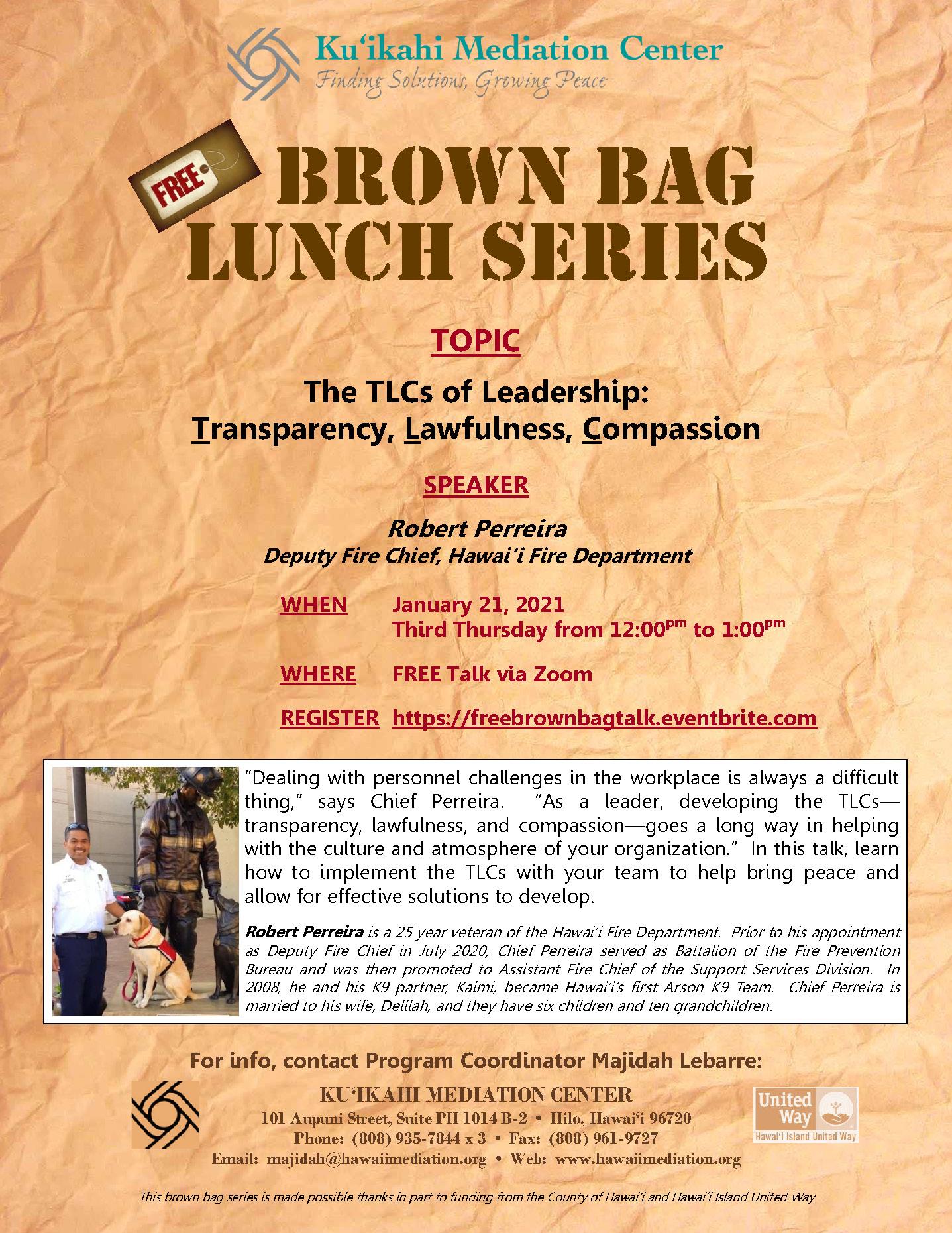 Flyer - Brown Bag 1-21-21 Robert Perreira