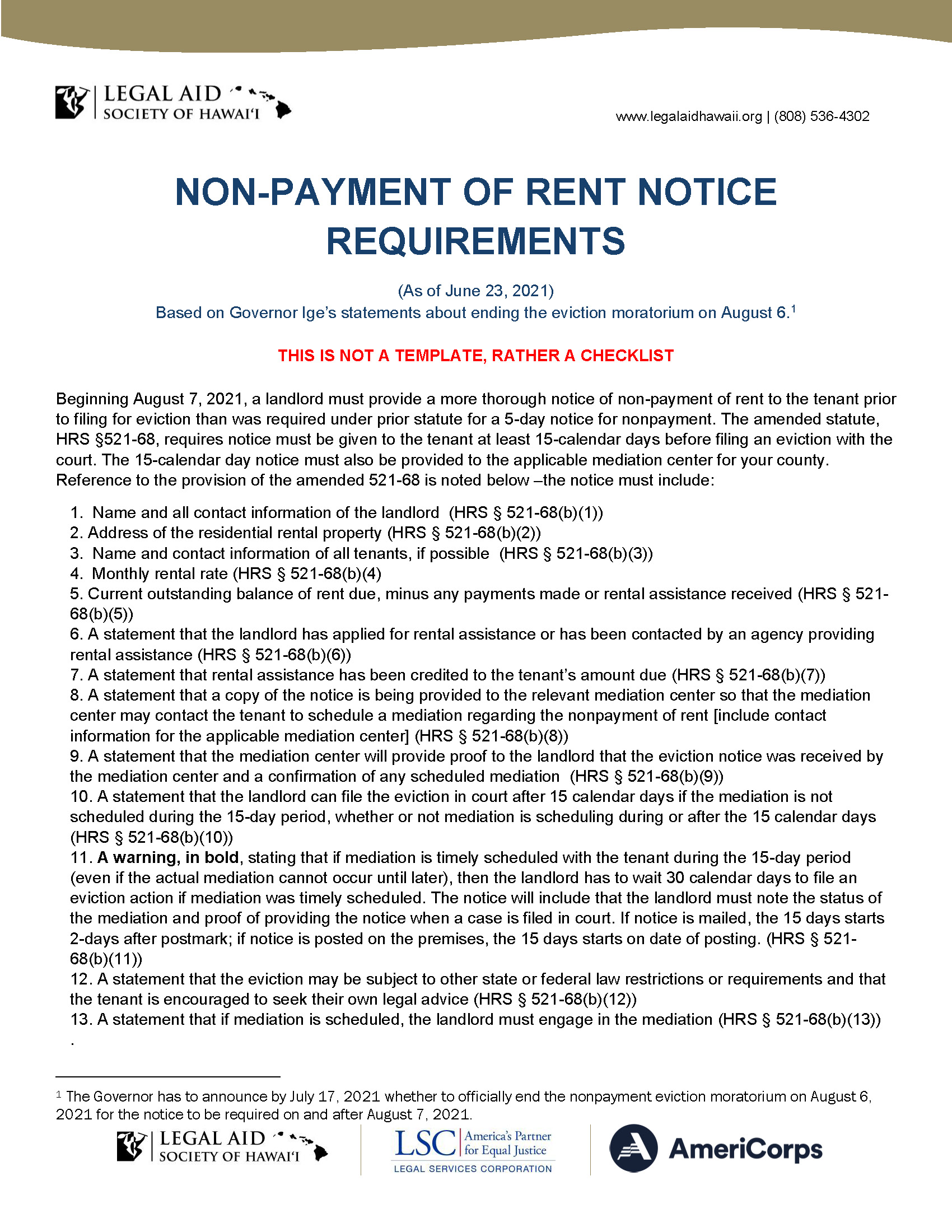 Legal Aid - Eviction Notice Requirements 06.24