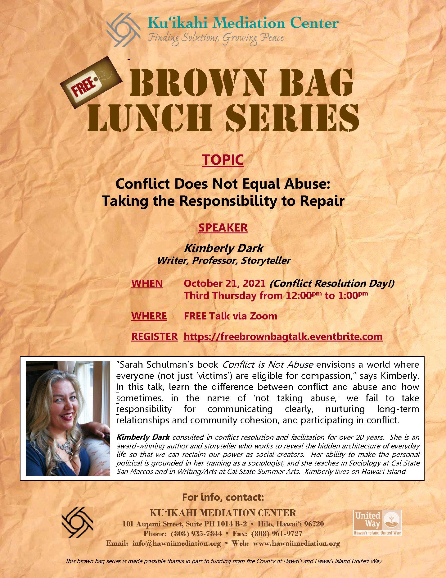 Flyer - Brown Bag Kimberly Dark 10-21-21